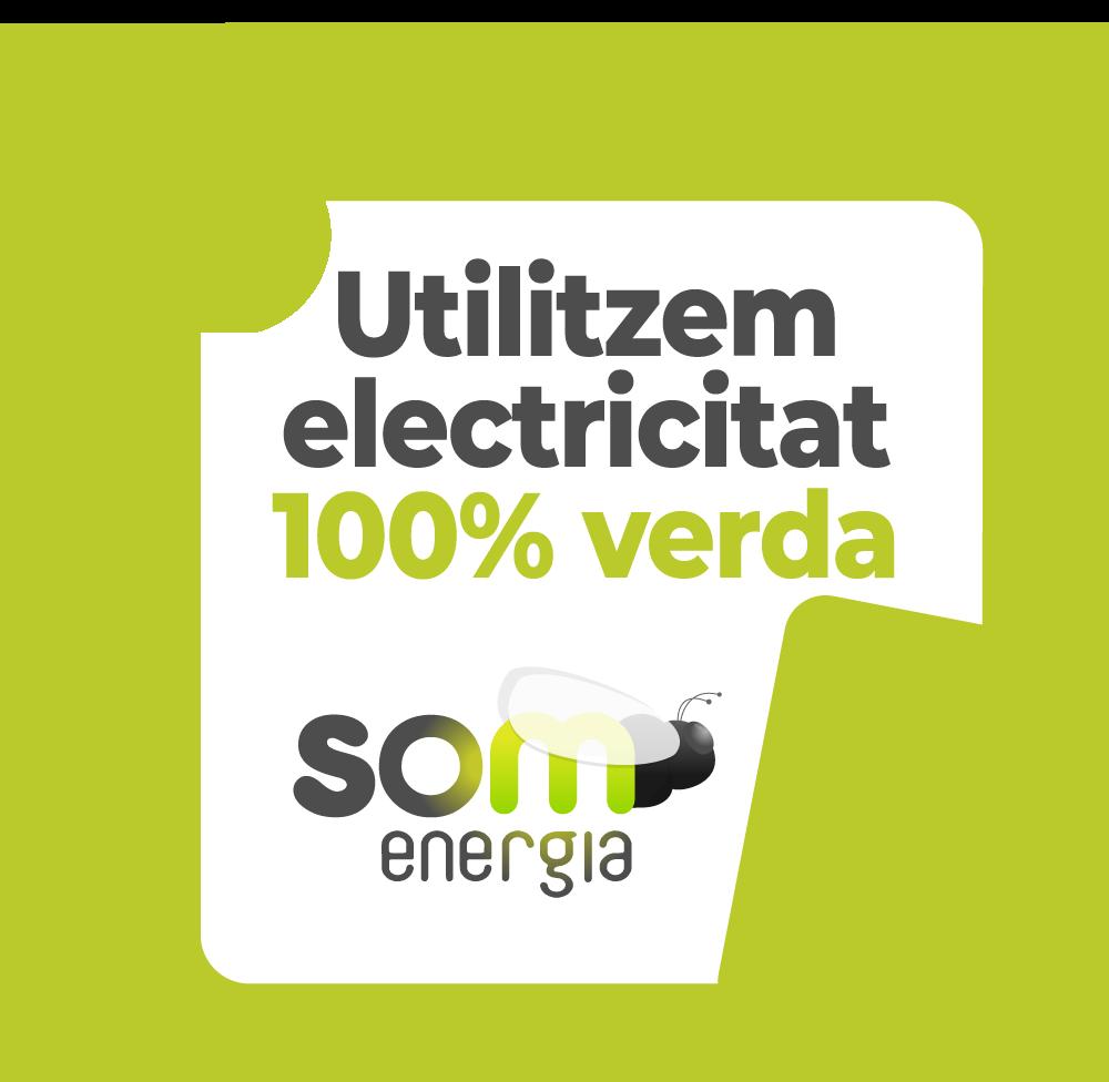 Utilitzem electricitat 100% verda